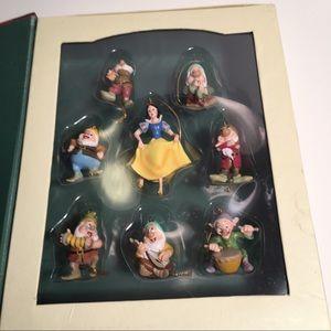 Snow White 7 Dwarfs Storybook Christmas Ornaments